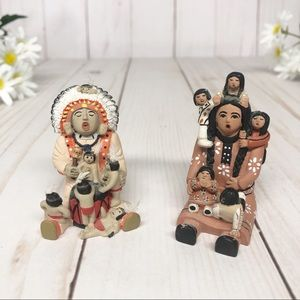 Vintage Mini Native American Storyteller Figures